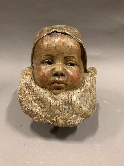 D'après Jean CARRIES (1855-1894)  Bébé  Plâtre...