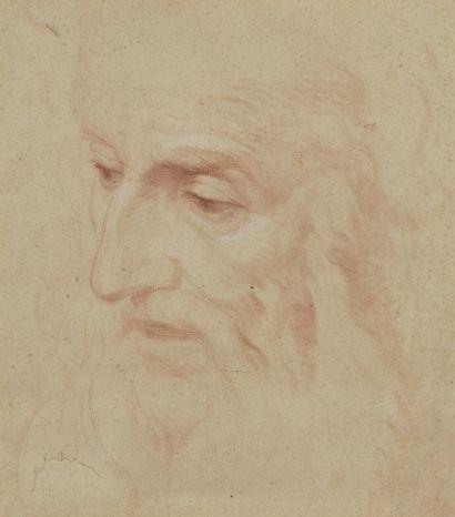 19th century ITALIAN school  Portrait of a man  Sanguine  38,5 x 25 cm