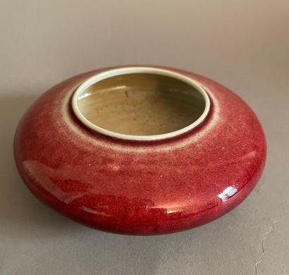 CHINE - XXe siècle  Rince-pinceaux en porcelaine...