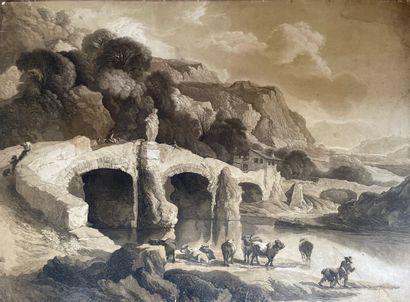 Ecole française du XVIIIème siècle  Troupeau...