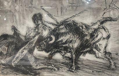 Jacques WINSBERG (1929)  Scène de tauromachie...