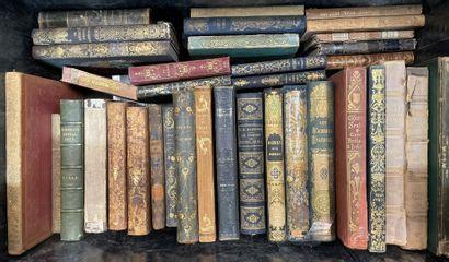 Dix caisses de livres reliés et brochés  XIXe...