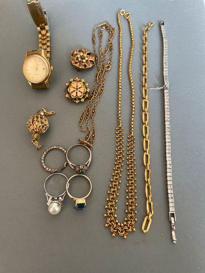 Lot de bijoux fantaisie, certains accide...