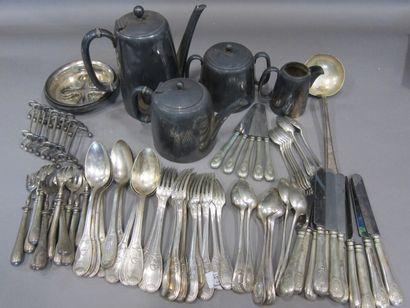 Service à thé/café en métal argenté anglais...