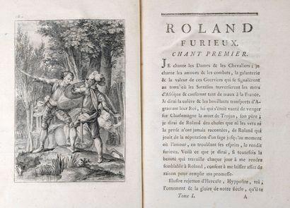 ARIOSTE - Roland Furieux, heroic poem. New translation by M. d'Ussieux. Paris, Brunet,...
