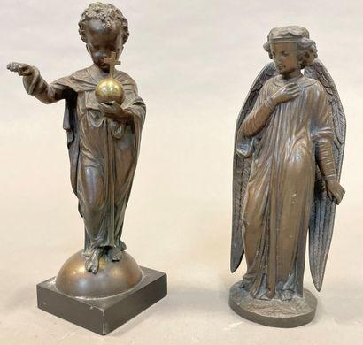 Enfant Jésus portant l'orbe crucigère  Epreuve...