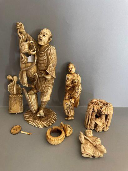 Japon, époque Meiji (1868-1912)  Ensemble...