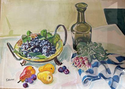 Henri GUILLOT (1895-1982)  Nature morte aux...