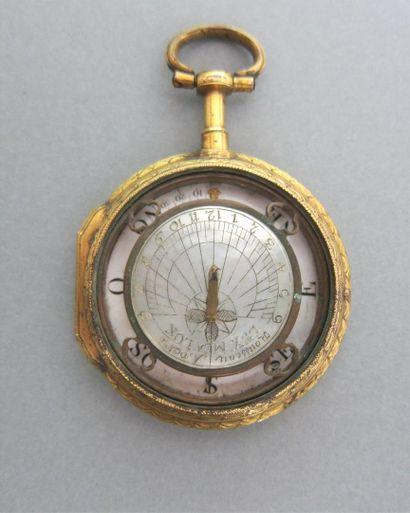 Cadran solaire et boussole en forme de montre...