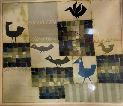 Jean Émile OOSTERLYNCK (1915-1995)  Les Oiseaux...