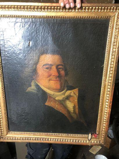 Ecole italienne vers 1820 Portrait d'officier...