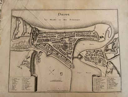 Set of old engravings and plans, 17th and 18th century