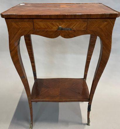 Petite table de salon en bois de placage...