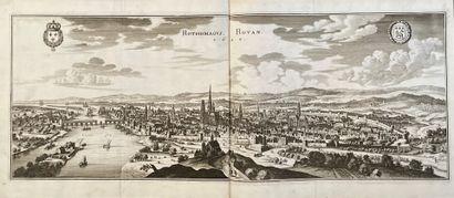 Ensemble de gravures et plans anciens, XVII°...