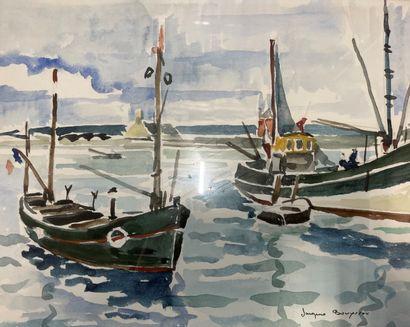 Jacques BOUYSSOU (1926-1997)  Barques de...