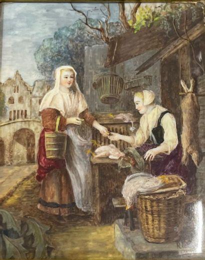 Mignature dans le gout du XVIIe siècle  La...