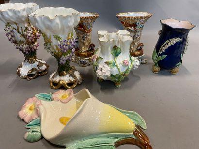 Caisses de vases décoratifs et divers