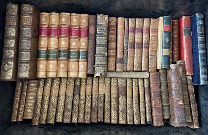 Caisse de livres reliés XVIII° et XIX° siècles...