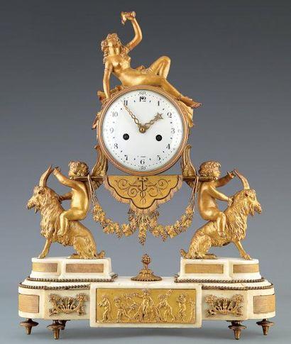 Pendule allégorique d'époque Louis XVI, En...