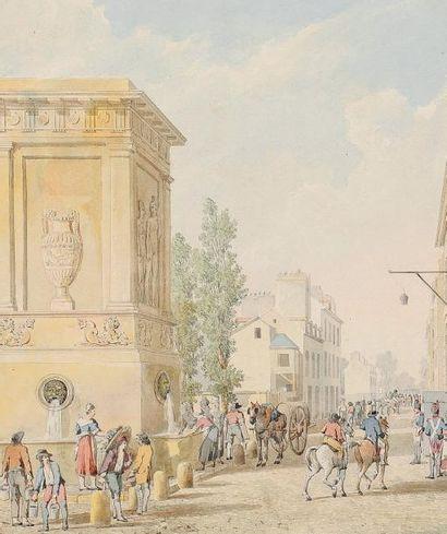 Pierre-François-Léonard FONTAINE (Pontoise 1762 - Paris 1853) Vue de la fontaine...
