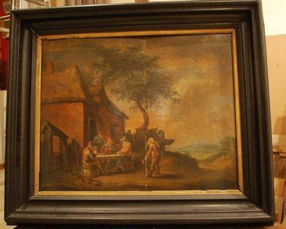 École flamande du XVIIIème siècle, suiveur de David TENIERS