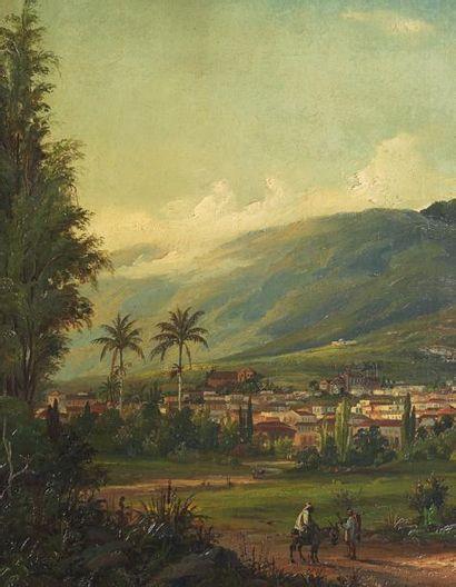 Fritz Sigfried G. MELBYE (1826-1896) Vue de Caracas Toile signée, datée et située...