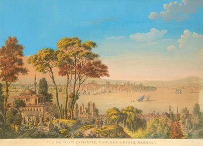 Vue de Constantinople depuis la mer de Marmara...