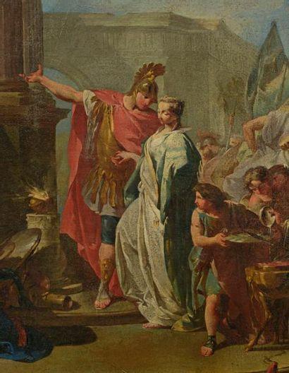 Attribué à Giambattista PITTONI (Venise 1687-1767) Polyxène sacrifiée aux mânes d'Achille...