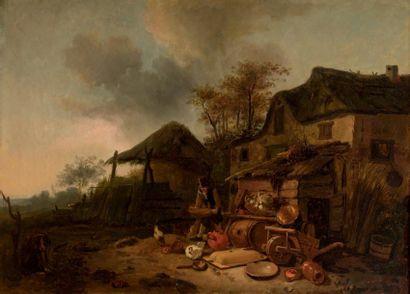 École Hollandaise du XIXe siècle dans le goût de Dirck Wyntrack