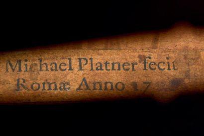 Intéressant et rare violoncelle de Michael PLATNER fait à Rome vers 1730-1735 portant...