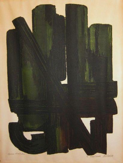 SOULAGES Pierre Eau-forte n° VIII. 1957....