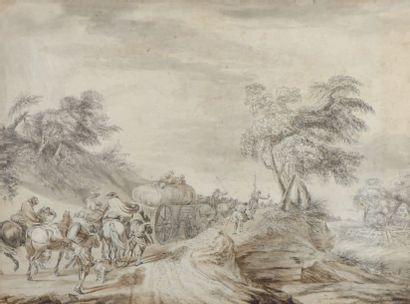 École FRANÇAISE de la fin du XVIIIe siècle, entourage de Théobald MICHAU