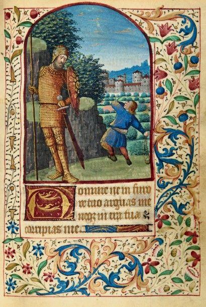 LIVRE D'HEURES À L'USAGE DE BOURGES (vers 1480) enluminé par Jean Colombe Manuscrit...