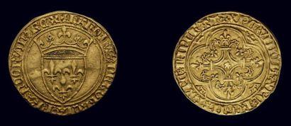 Charles VI (1380-1422) Écu d'or à la couronne...