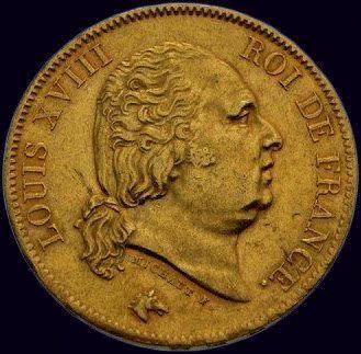 Louis XVIII (1814-1824) 40 francs 1817 Paris...
