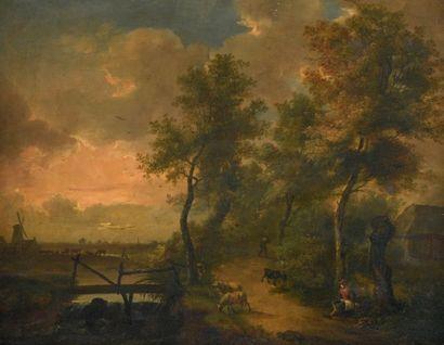 École HOLLANDAISE de la fin du XVIIIe siècle - début du XIXe siècle