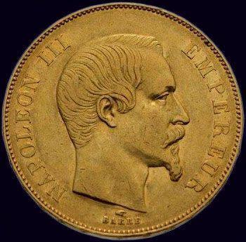 Napoléon III (18531870) 50 francs 1855 Paris...
