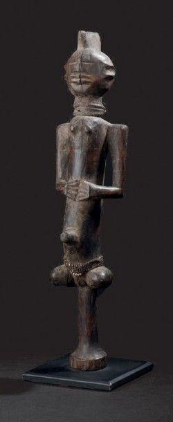 Bâton de danse Chamba, Nigeria Bois dur à...