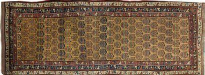 Grand fragment de tapisserie Flamande Paysage...