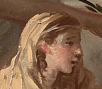 Jean-Jacques LAGRENÉE dit le jeune (Paris 1739-1821) Le repos pendant la fuite en...