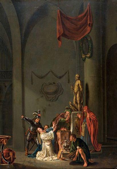 École HOLLANDAISE du XVIIIe siècle, dans le goût de Nicolaus KNUPFER