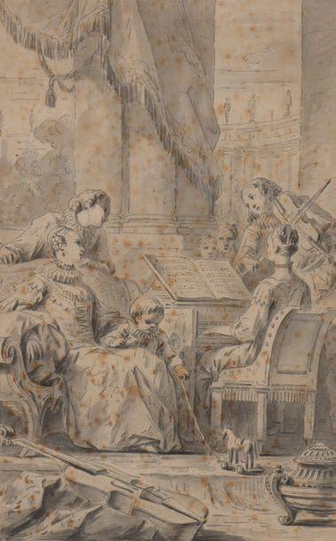 École FRANÇAISE du XIXe siècle, entourage de Charles MONNET