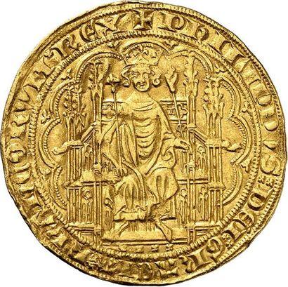 PHILIPPE VI DE VALOIS (1328-1350). Chaise...