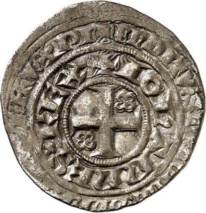 JEAN LE BON (1350-1364). Blanc aux quadrilobes....
