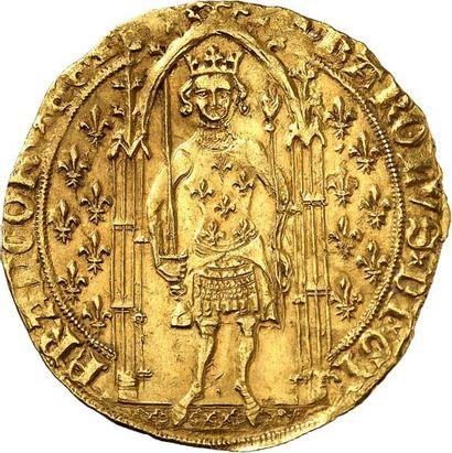CHARLES V le Sage (1364-1380). Franc à pied...