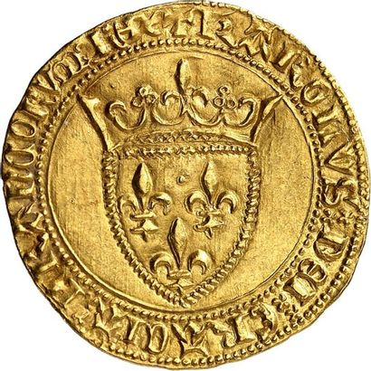 CHARLES VI (1380-1422). Écu d'or de la 1ère...