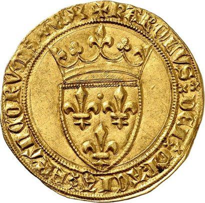 CHARLES VI (1380-1422). Écu d'or de la 2ème...