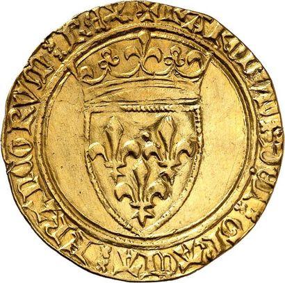 CHARLES VI (1380-1422). Écu d'or de la 3ème...