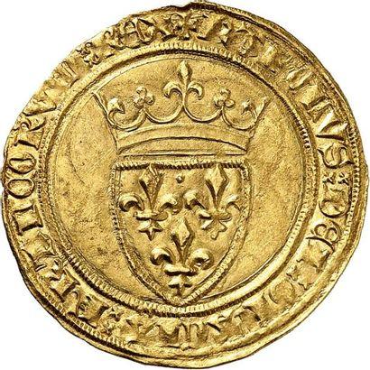 CHARLES VI (1380-1422). Écu d'or de la 5ème...