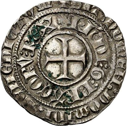 CHARLES VI (1380-1422). Gros aux lys sous...